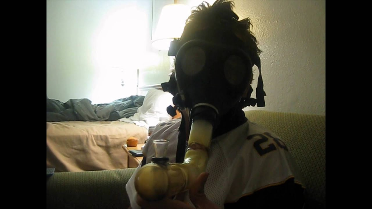 Ganja Girl Wallpaper Smoking Weed Out Of A Gasmask After Vikings Game Youtube