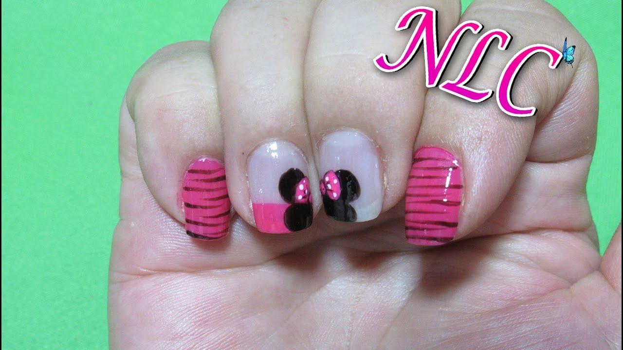 Decoracion de uñas Minnie Mouse - minnie mouse nail art - como ...
