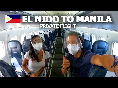 PRIVATE FLIGHT FROM EL NIDO TO MANILA 🇵🇭 PHILIPPINES TRAVEL
