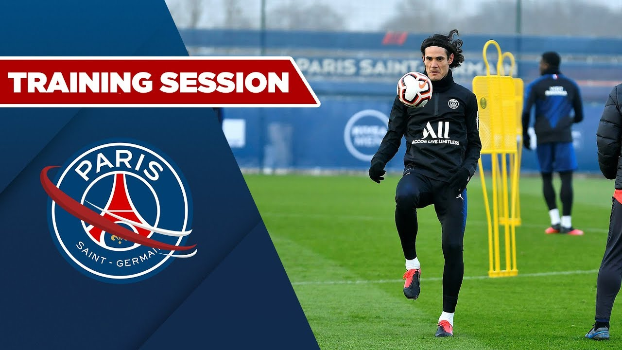 TRAINING SESSION : PARIS SAINT-GERMAIN vs MONTPELLIER with Cavani, Neymar JR &  Icardi
