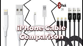 Anker vs Apple vs Becaso iPhone Cables  Comparison Review