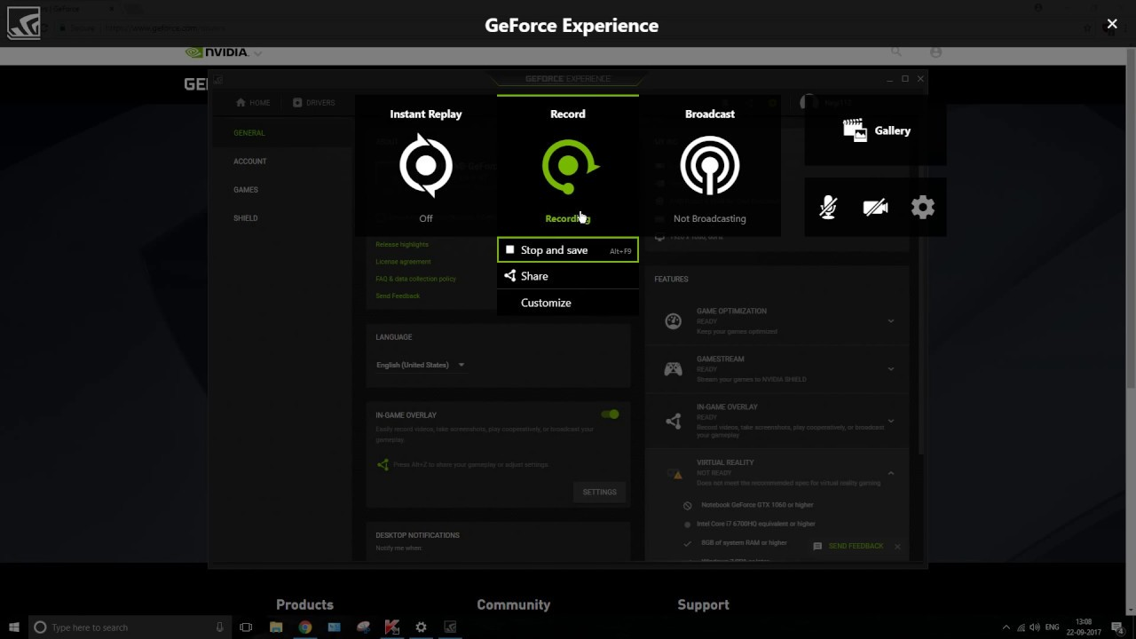geforce experience record shortcut