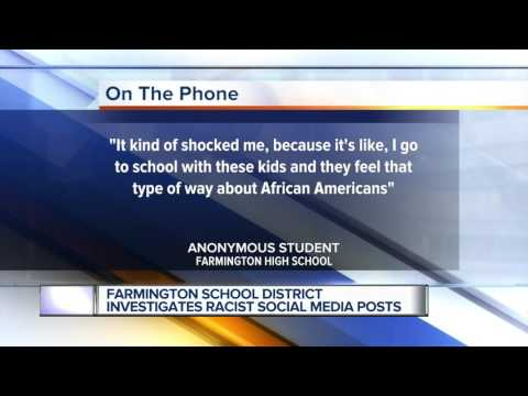 Farmington school district investigates racist social media posts