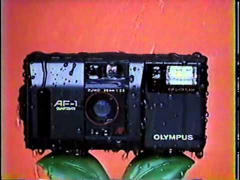 OLYMPUS AF-1 Waterproof Camera Funny Commercial Japan Japanese TV Osaka Summer 1986