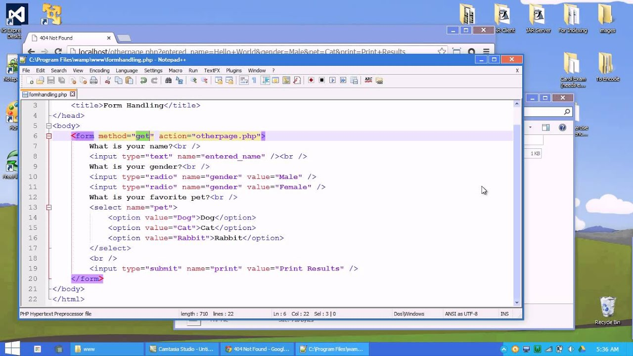 PHP: Form Handling - YouTube