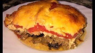 Запеканка из баклажанов с фаршем. Баклажаны с помидорами и сыром.