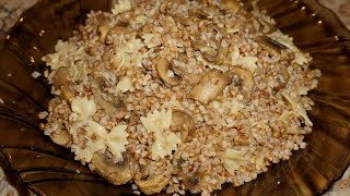 Гречневая каша с бантиками и грибами - Kasha Varnishkes