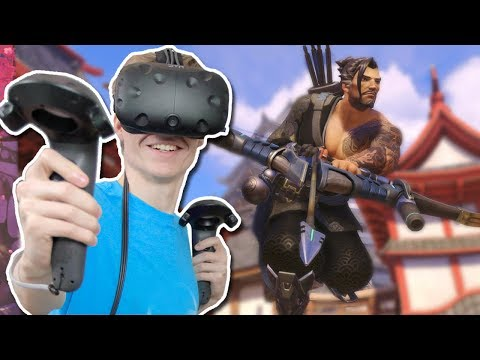 OVERWATCH IN VIRTUAL REALITY! | Hanzo Training VR (HTC Vive Gameplay)