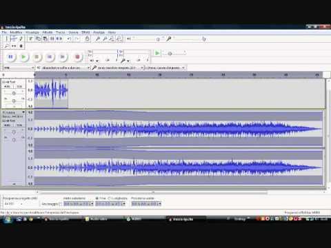 Mixare musica e parole con audacity
