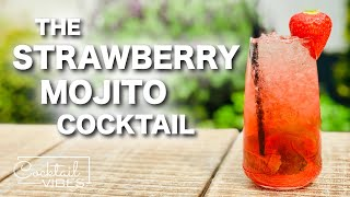 How To Make a STRAWBERRY MOJITO Cocktail   1-Minute Cocktail Recipes