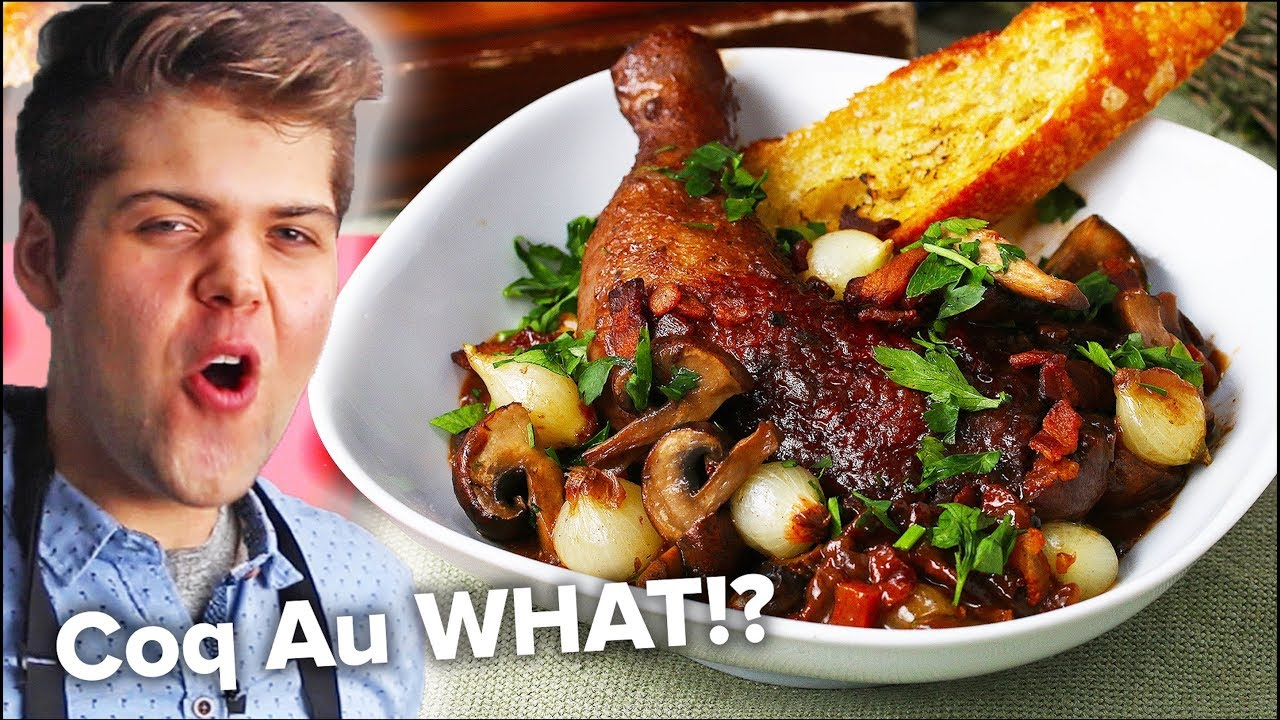 How To Make French Chicken With Wine Coq Au Vin Youtube