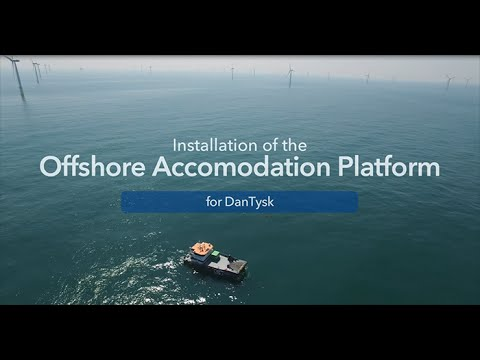 Accomodation platform for DanTysk and Sandbank offshore wind