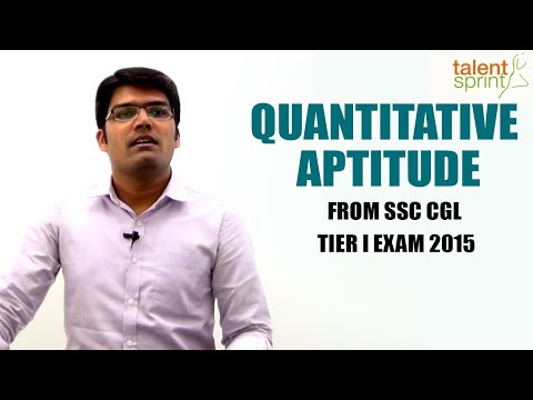Quantitative Aptitude from SSC CGL Tier I Exam 2015 | TalentSprint