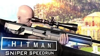 HITMAN: SNIPER SPEEDRUN 2 Minutes | Fastest Sapienza Suit Only Stealth Run [60fps]