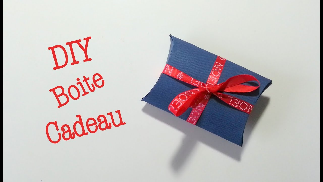 diy noel boite cadeau en papier carton youtube. Black Bedroom Furniture Sets. Home Design Ideas