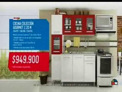 Homecenter cumpleanos cocina gourmet 10 youtube for Muebles de cocina homecenter