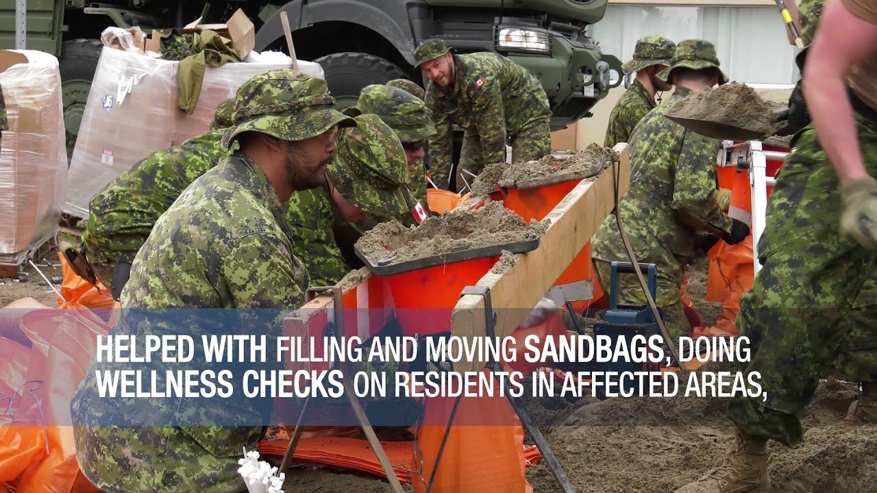 Canadian Military Flood Relief Spring 2019
