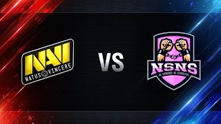 Natus Vincere  vs NS-NS - day 4 week 3 Season I Gold Series WGL RU 2016/17