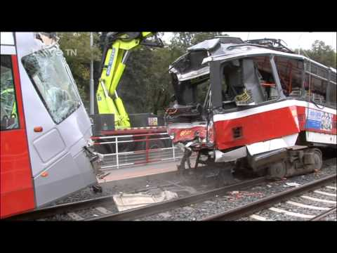 Crash trams in Prague