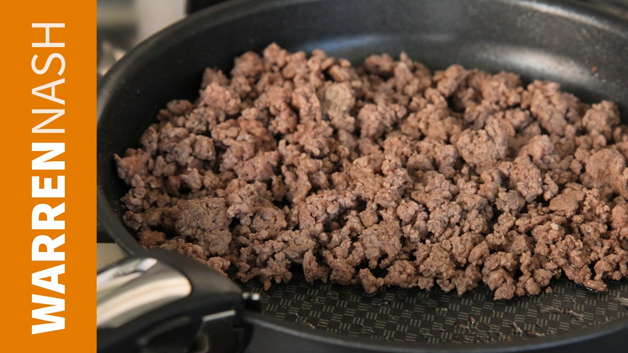 How to separate Fat from Ground Beef - 60 second video - Recipes by Warren  Nash