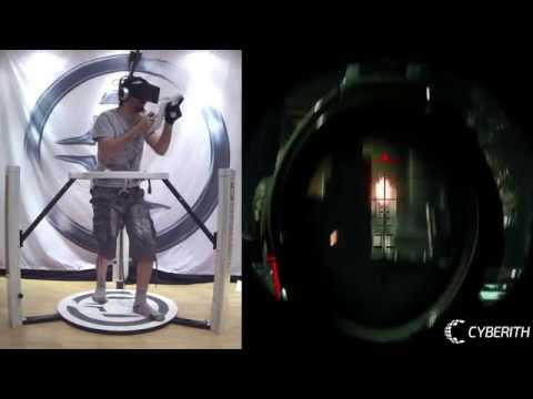 Crysis 3 in VR with the Cyberith Virtualizer + Oculus Rift + Peregrine Glove + Wii Mote