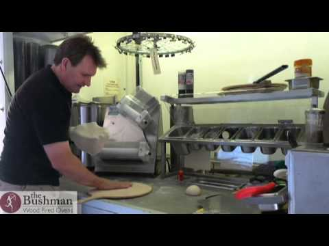 rolling a pizza with the dough roller youtube. Black Bedroom Furniture Sets. Home Design Ideas