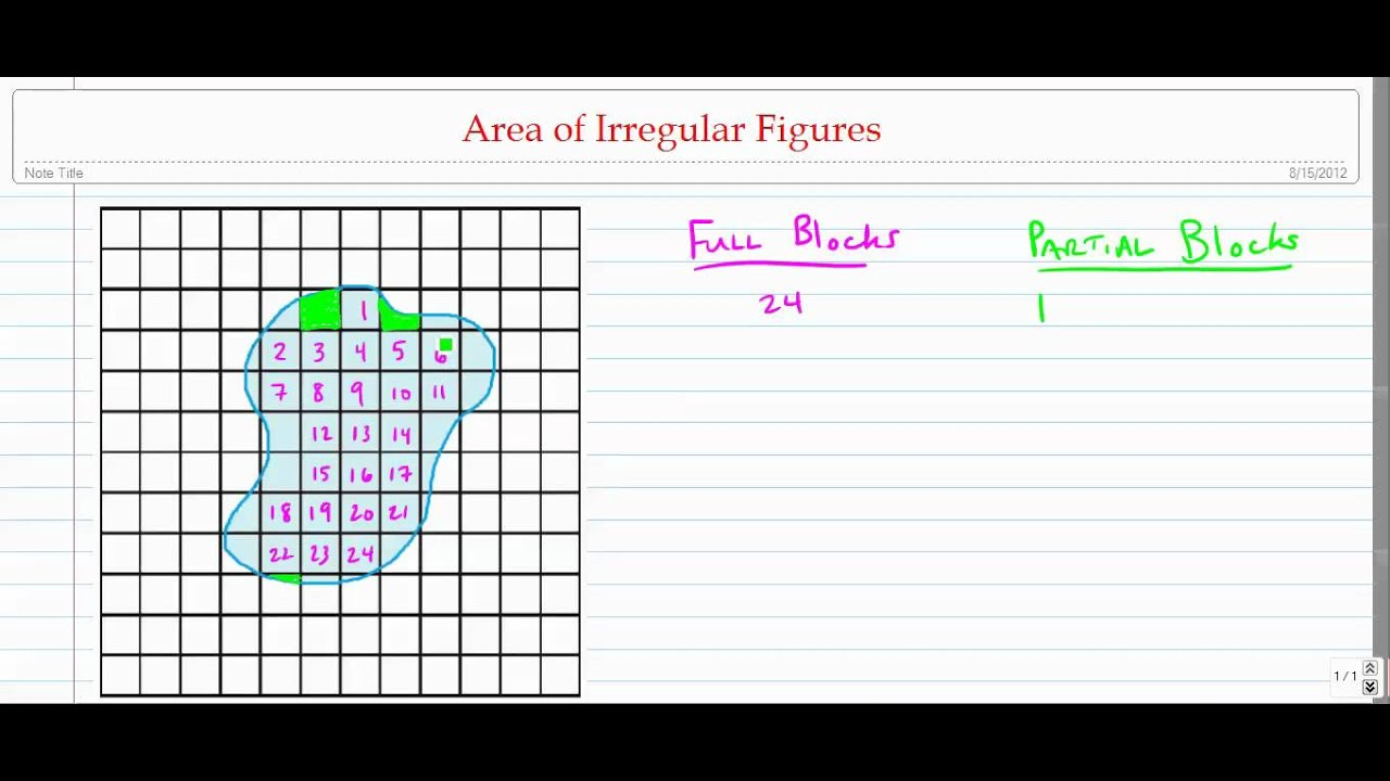 Estimating Area of Irregular Figures YouTube – Area of Irregular Figures Worksheet