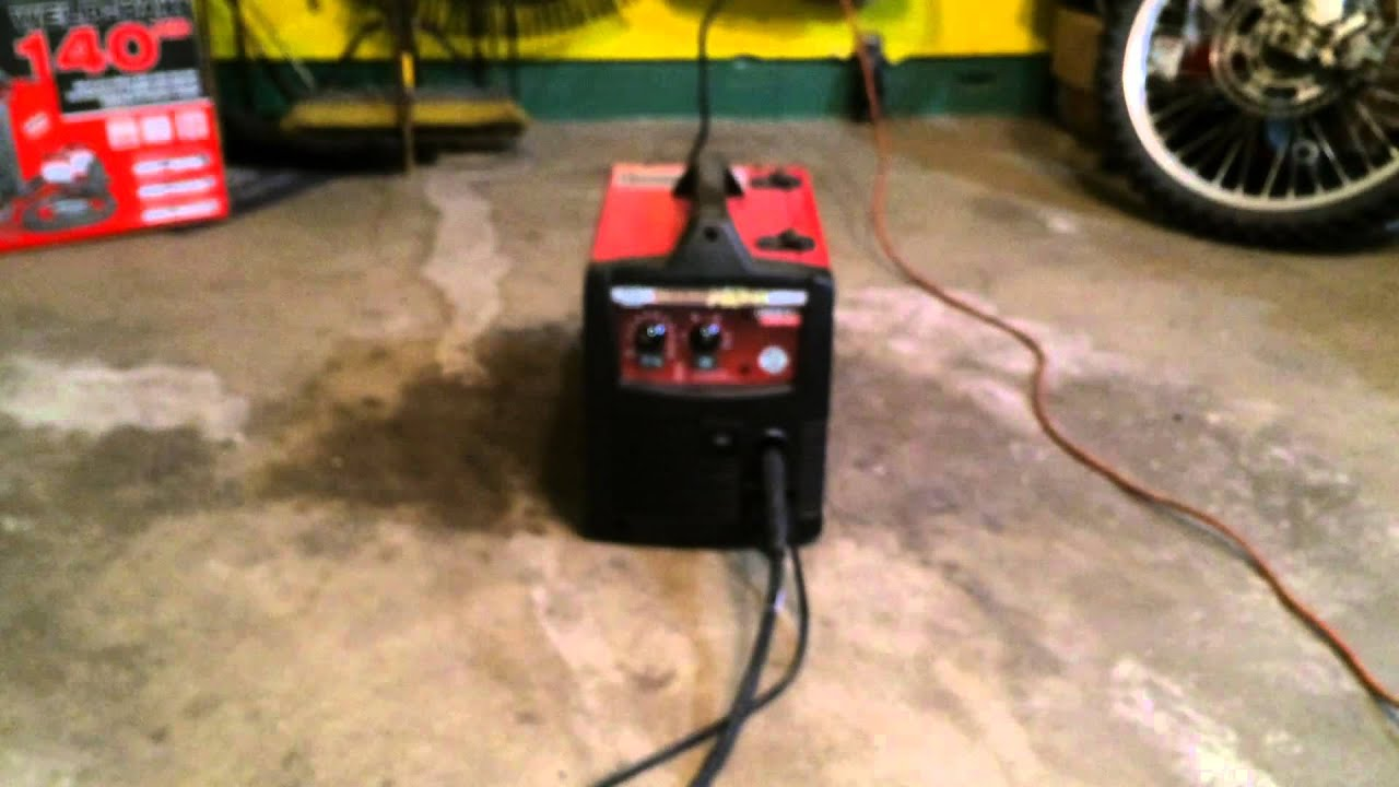 small resolution of lincoln electric weld pak 140 hd mig welder test welds