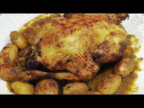 rabinette-nous-fait-sa-recette-de-poulet-rÔti-aux-pommes-de-terre-facile-(cuisine-rapide)