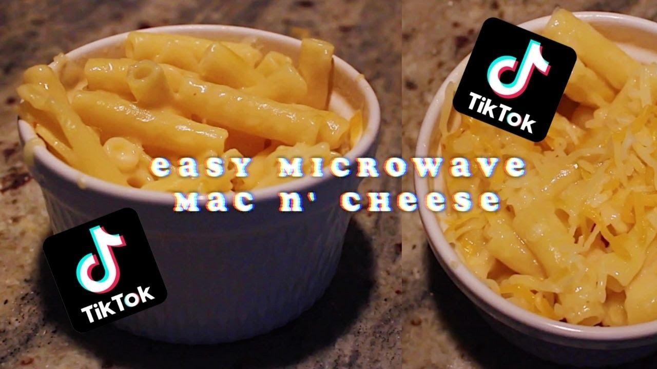 easy tik tok microwave mac n cheese