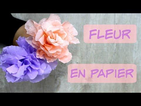 Fleur En Papier Crépon Très Facile Youtube