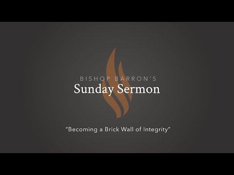 Becoming a Brick Wall of Integrity — Bishop Barron's Sunday Sermon