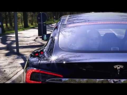Tesla Model S P85D Insane Mode meets Mercedes SLS AMG