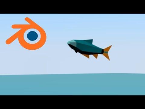 Low poly fish blender modeling timelapse youtube for Fish in a blender
