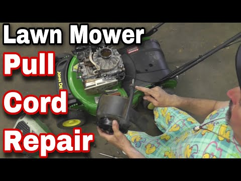 How To Easily Fix or Repair a Recoil on a Lawn Mower - with Taryl