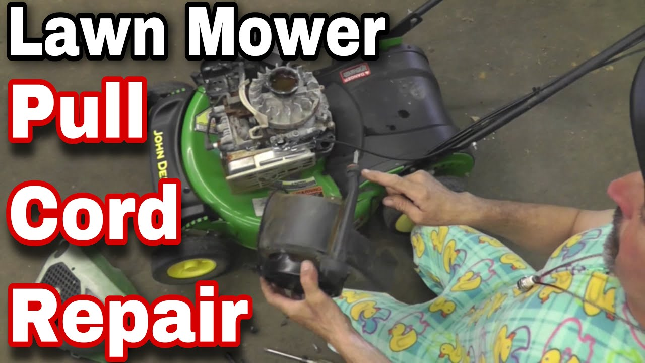 How To Easily Fix Or Repair A Recoil On A Lawn Mower