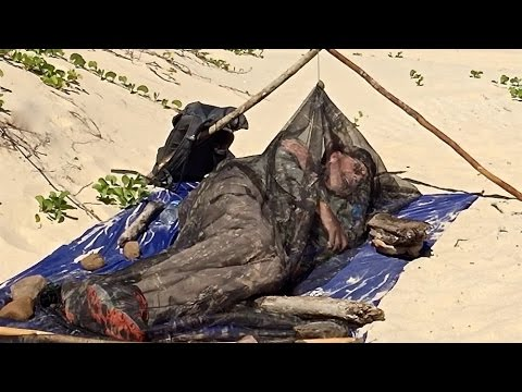 Bivouac on the Beach with Only a Tarp and Bug Screen