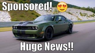 HUGE News! Challenger Hellcat Redeye SPONSORED Already!