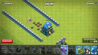 Townhall 12 max Vs all troops | hybrid coc | experiment