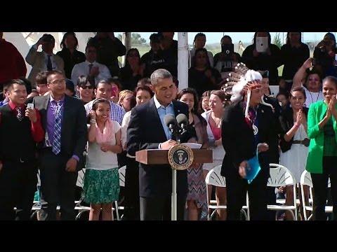 President Obama Speaks at the Cannon Ball Flag Day Celebration