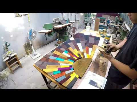 [Sơn lau gỗ][Chia sẻ] Làm tranh ghép gỗ đa màu sắc.