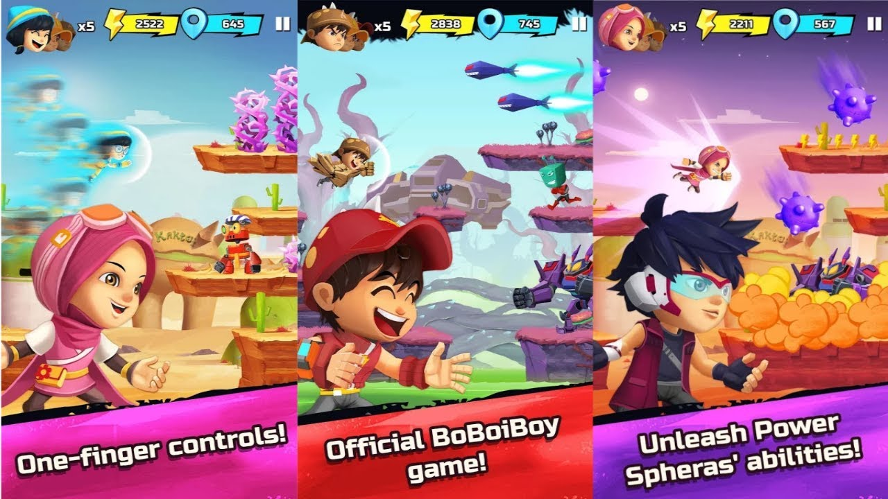 BoBoiBoy Galaxy Run: Fight Aliens to Defend Earth! Android Gameplay