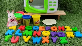 플레이도우가 전자렌지에서 ABC알파벳으로 요리가 되여 …