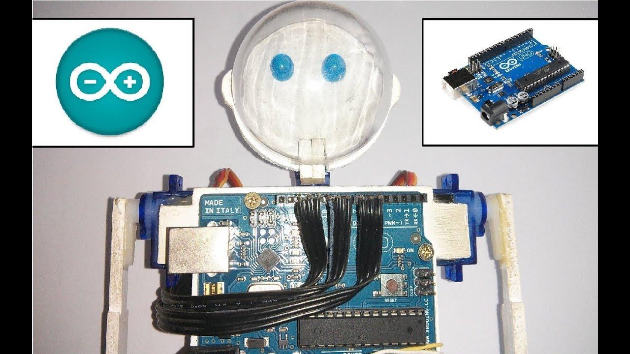 Fabrica tu robot humanoide con arduino youtube