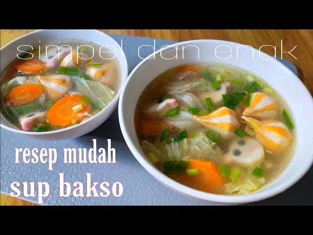Sop Bakso Tofu Cara Membuat Sop Tofu Yang Enak Youtube