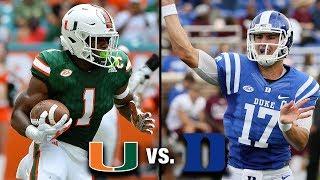Miami vs. Duke Preview | Battle In The ACC Coastal