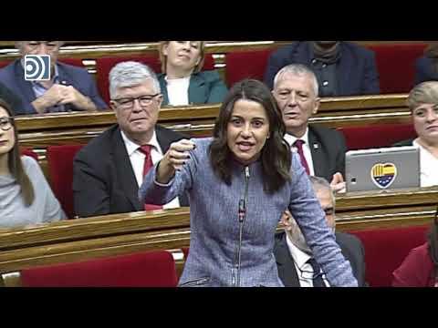 Torra pierde los papeles con Arrimadas en el 'Parlament'