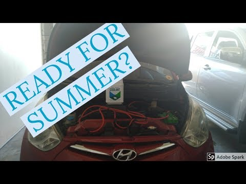 HOW TO FLUSH THE COOLING SYSTEM HYUNDAI EON (ENGLISH)