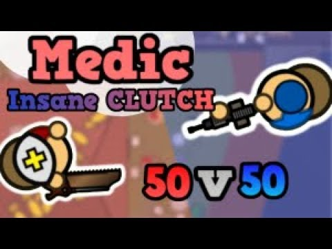 *EPIC *  MEDIC CLUTCH! *NEW* Surviv.io 50v50 Update