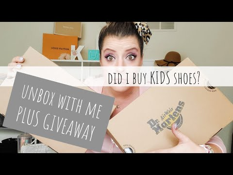 The Tale Of 2 Pairs Of Doc Martens - Unboxing Adult And Kids Sizes....PLUS A GIVEAWAY (closed)
